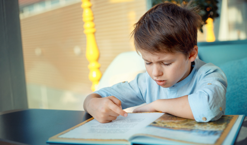 Children frustrated while reading
